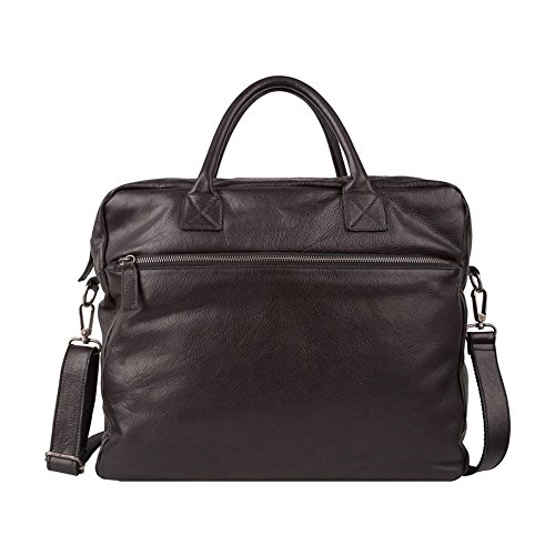1030 Cowboysbag The Bag Bag, Weekender Bag Leather, Black, 46x36x14 Cm (wxhxd)