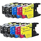 10 High Yield Compatible Ink Cartridge Combo, LC75  (4xBk, 2xC, 2xM & 2xY)