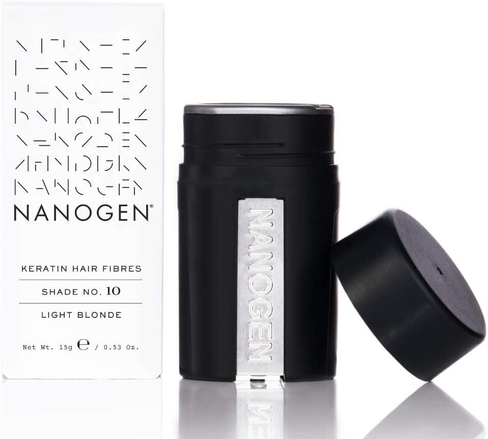 Nanogen fibras capilares queratina, Rubio Claro, 15 g: Amazon.es: Belleza