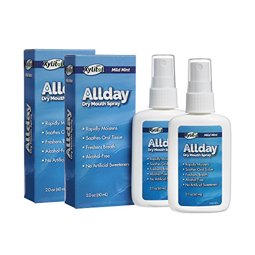 Allday 100% Xylitol-Sweetened Dry Mouth Spray, 2 oz Bottle (Pack of 2) ()