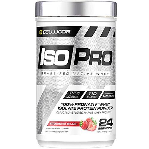 Cellucor IsoPro 100% Grass Fed Native Whey Protein Isolate Powder, Strawberry Splash, 24 Servings