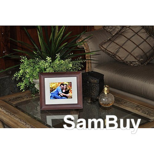 "Giinii 8"" Digital LCD Photo Frame, Brown"