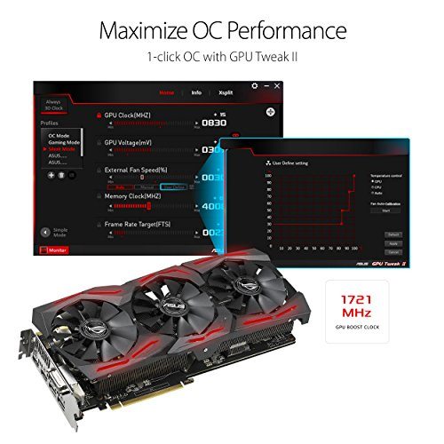 ASUS ROG Strix GeForce GTX 1070 Ti 8GB GDDR5 VR Ready DP HDMI DVI Gaming Graphics Card (ROG-STRIX-GTX1070TI-8G-GAMING) Photo #4