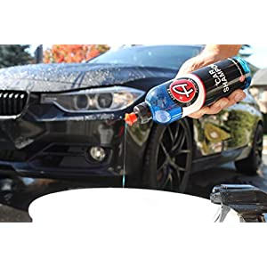 Adam's Car Wash Shampoo - pH Neutral Formula For Safe, Spot Free Cleaning - Thick, Luxurious Suds That Always Rinses Clean - Ultra Slick Formula That Wont Scratch or Leave Water Spots (16 oz)