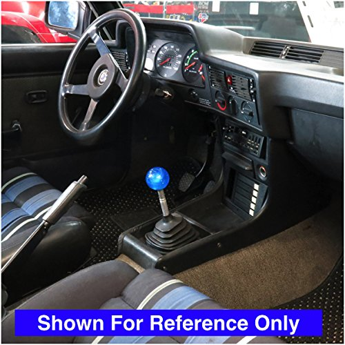 American Shifter 24625 Blue Metal Flake Shift Knob Red Drumsticks Clenched