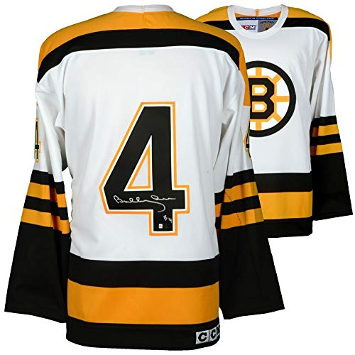 Bobby Orr Signed Jersey - Bobby Orr Boston Bruins FAN Autographed Signed White Mitchell & Ness Jersey - Certified Signature