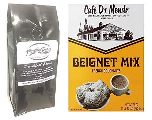 st Blend Ground Coffee Bundled With Cafe Du Monde Beignet Mix 28 Ounce ()