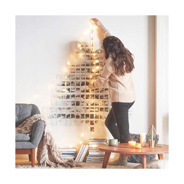 MOVEONSTEP catena luminosa 300 Led 33m corda leggera bianca 8 modalità impermeabile decorazione interna ed esterna è adatta anche per party garden Natale Halloween wedding 5 spesavip
