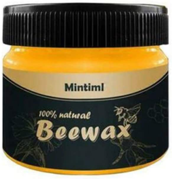 Grospe Natural Wood Seasoning Beewax Wood Polish Beeswax Home Cleaning Furniture Care Wood Protection All-Purpose Beewax for Wood Cleaner and Polish Wipes
