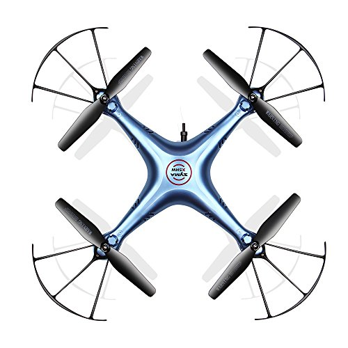 (FOMEIL SYMA X5HW WiFi FPV Drone with HD Camera Live Video Altitude Hold Function 2.4Ghz 4CH RC Quadcopter Blue.Atomic)