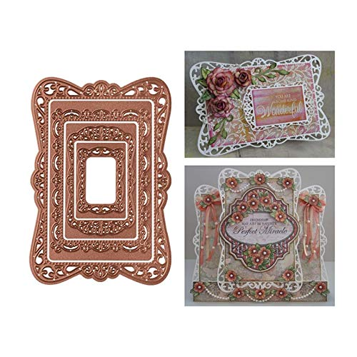 4Pcs/Lot Frame Metal Cut Cutting Dies Mold Tool Scrapbooking Scrapbook Lace Combination for Card Making Handmade DIY Craft Embossing Cuts New Pattern