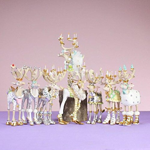 - Patience Brewster Mini Moonbeam Reindeer Ornament Set 5-Inches by 3-Inches