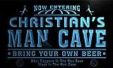 qc235-b Christian's Man Cave Basketball Bar Neon Sign