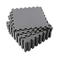 Eva Foam Mat, Superjare 16 Tiles (16 tiles = 16 sq.ft) Interlocking Floor Til...