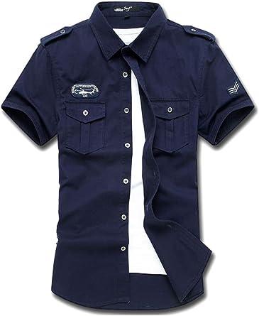 Camisa De Trabajo Militar De Manga Corta Informal para Hombre: Amazon.es: Ropa y accesorios