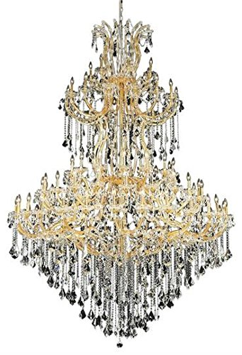 Karla Gold Traditional 85-Light Grand Chandelier Heirloom Handcut crystal in Crystal (Clear)-2380G96G-RC--72