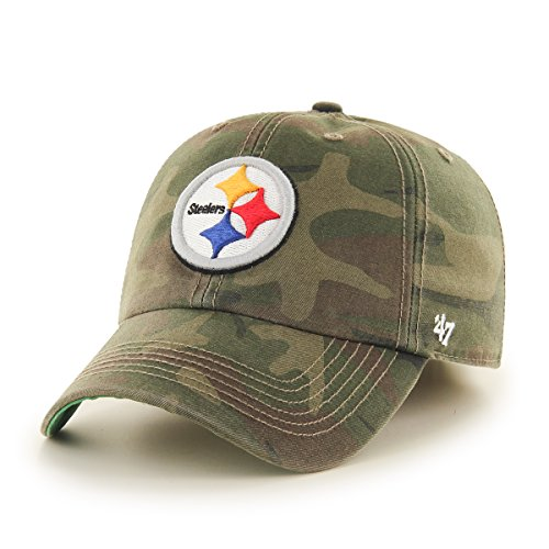 NFL Pittsburgh Steelers Harlan Franchise Fitted Hat, Small, (Pittsburgh Steelers Throwback Pennant)