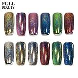 POYING Full Beauty 1 box Holographic Nail Glitter Flakes DIY Powder Manicure Dust Nail Art Decorations Galaxy Glitter CH01-06