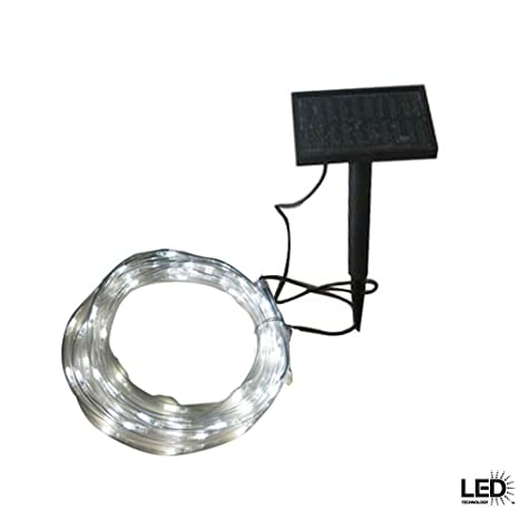 Solar rope light 16 foot wall porch lights amazon solar rope light 16 foot aloadofball Image collections