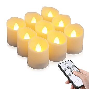 Led Kerzen Otumixx 9 Led Flammenlose Teelichter Flackern Kerzen