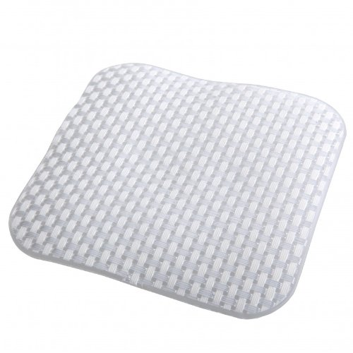 Basket Weave Bath Treads - White