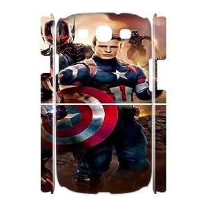 3D [Captain America Series] Samsung Galaxy S3 Case Cap Age of Ultron - White