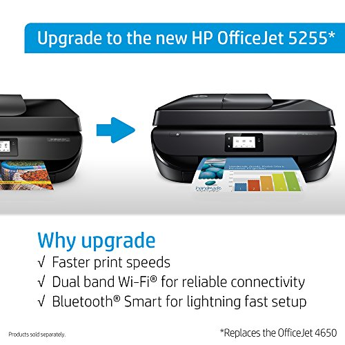 HP OfficeJet 4650 Wireless All-in-One Photo Printer with Mobile Printing, HP Instant Ink & Amazon Dash Replenishment Ready (F1J03A)