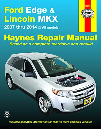 Haynes Repair Manuals Ford Edge & Lincoln MKX 2007-2014 (36014)