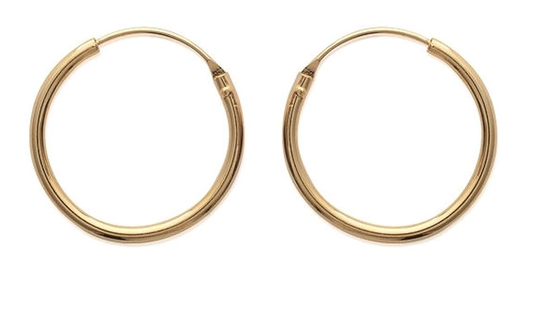 Les Plaisirs de Stella Pendientes de aro chapados oro cable redondo diámetro: