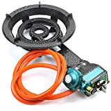 XtremepowerUS Electric Igniter Portable Propane Gas Stove Range Camping BBQ Single Burner with Hose and Regulator