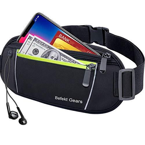Befekt Gears Sportheuptas, waterdichte heuptas, heuptas met opening voor koptelefoons en reflecterende strepen voor 6,5…