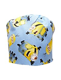 Sew1ForMe! S1FM! Men's Scrub Cap, Despicable Me Minions Falling, Handmade, Bamboo French Terry