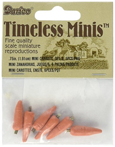 Darice Timeless Miniatures: Carrots