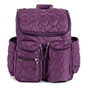 Diaper Backpack by Wallaroo - with Stroller Straps, Wet Diaper Bag and Changing Pad – for Women and Men - 28 liters (Large) - Purple