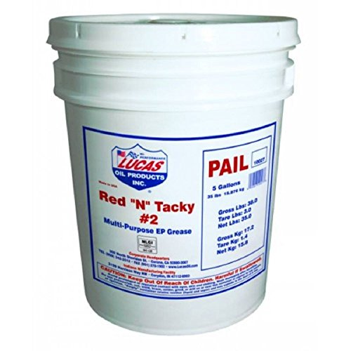 Lucas Oil 10027-PK1 Red 'N' Tacky Grease 35 lb by Lucas