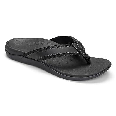 Vionic Mens Tide Sandal Black Size 7
