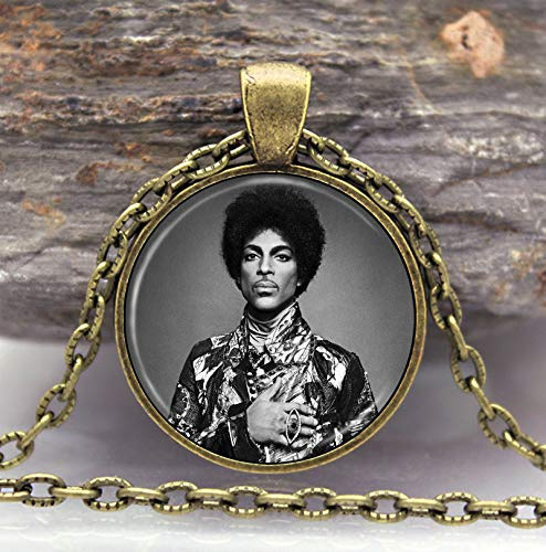 Mens necklace New Music Memorial Necklace Prince Rip Symbol Love Logo Hermaphrodite Necklace Artist Gothic Glasses Pendant Necklaces Gift