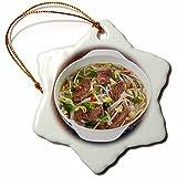 3dRose Danita Delimont - Food - Vietnamese Pho beef broth, Vietnam, Asia - 3 inch Snowflake Porcelain Ornament (orn_277056_1)