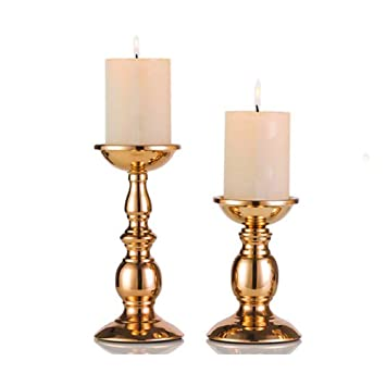 Amazon De Eisen Saulenstander Kerzenhalter Tischdekoration