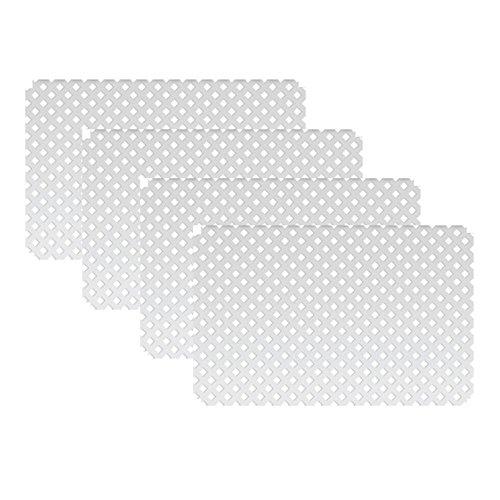 3 ft. H x 4 ft. W White Modular Vinyl Lattice Fence Panel (4-Pack)