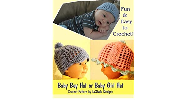 Baby Boy Hat Baby Girl Hat Crochet Pattern Kindle Edition By Lori
