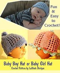 Baby Boy Hat, Baby Girl Hat Crochet Pattern