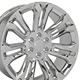 22 rims escalade - OE Wheels 22 Inch Fits Chevy Silverado Tahoe GMC Sierra Yukon Cadillac Escalade CV43 Chrome 22x9 Rim Hollander 5666