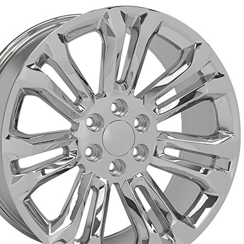 (OE Wheels 22 Inch Fit Chevy Silverado Tahoe GMC Sierra Yukon Cadillac Escalade CV43 Chrome 22x9 Rims Hollander 5666)