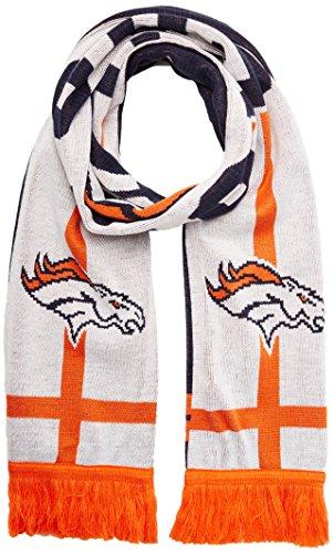 OTS NFL Denver Broncos Mens Silas Scarf, White, One Size