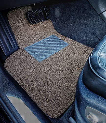 AutoTech Zone Custom Fit Heavy Duty Custom Fit Car Floor Mat for 2016-2018 Lincoln MKX SUV Beige and Brown All Weather Protector 4 Piece Set