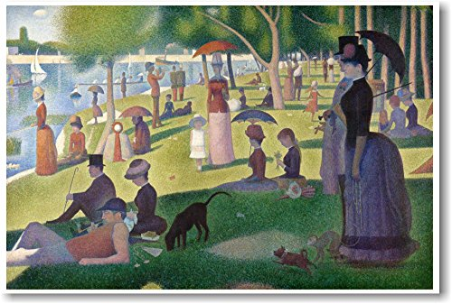 A Sunday Afternoon on the Island of La Grande Jatte - 1886 - Georges-Pierre Seurat - NEW Fine Arts Poster - Sunday Afternoon On The Island La Grande Jatte