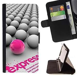 Kingstore / - Bien Arreglado grises Bolas Con Una Rosa - HTC DESIRE 816
