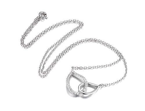 0a038689ba41 Arista gemas plata lágrima cadena colgante cuello Collar  Amazon.es  Joyería