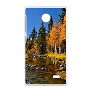 Autumn Forest White Phone Case for Nokia Lumia X